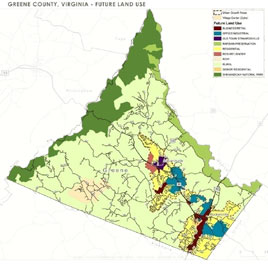 Greene County Land Use Map 2009