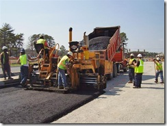 Crews paving new lanes (VDOT)