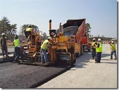 Crews paving new lanes (VDOT)