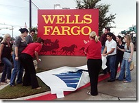 Wells Fargo Sign Arlington Texas