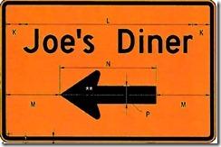 Joes Diner arrow