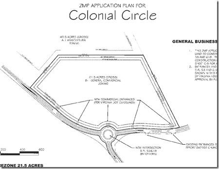 Colonial Circle map