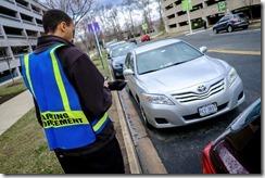 Reston Parking Enforcement Phot Credit Pete Marovich Washington Post